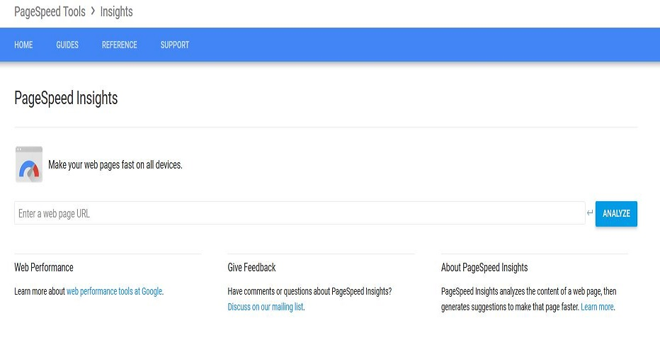 Google PageSpeed Insight Report