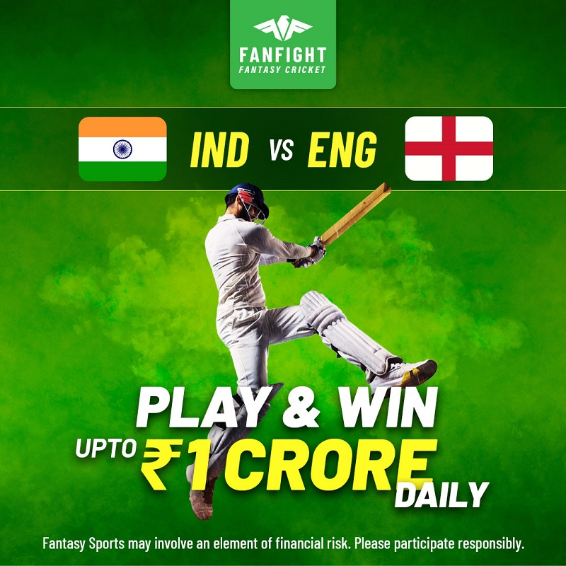 Play IND vs ENG Fantasy Cricket and Win Cash Big Daily